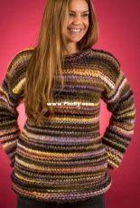 Loose Lady's Sweater-EK4-Mayflower Easy Knit-Hobbii Designs-Dutch-Free.