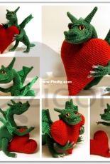 Zizidora Crochet Patterns - Cecilia Karlsson - Dragon of Love