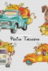 Pumpkin Cars by Polina Tarusova
