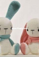 Tatie Soft Toys - Tatie Davies - Siting Bunny Pattern 2 in 1