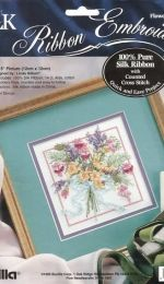 Bucilla 335301- Flowers and Ferns - Silk ribbon embroidery (english and french)