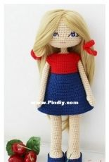 Knitted Toys Designs - Natalia Borisova - Crochet Doll Alice