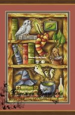 Harry Potter Magic Shelf by Nadezhda Kazarina / Nadi