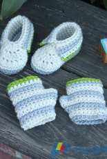 Knit and Crochet Now - Episode 710ANV - Candi Jensen - Little Hands and Feet Crochet Booties and Fingerless Gloves - free