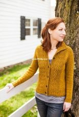 Reverb Fitted Cardigan with Cables by Tanis Lavallee - Russian