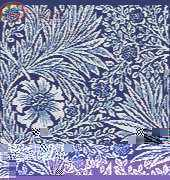 Marigold Blue Based on the art of William Morris