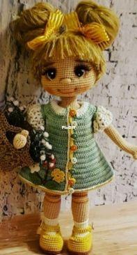 Amigurumiakpinar toys friends - Elif Akpınar - Cemre Doll - Cemre Bebek - Turkish