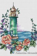 Alexandra Zamorina (Александра Заморина) - Lighthouse with Roses